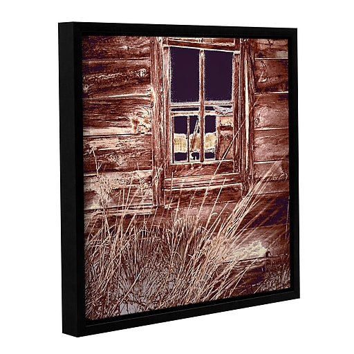 "ArtWall 'Miners Cabin' Gallery-Wrapped Canvas 24"" x 24"" Floater-Framed (0uhl084a2424f)"