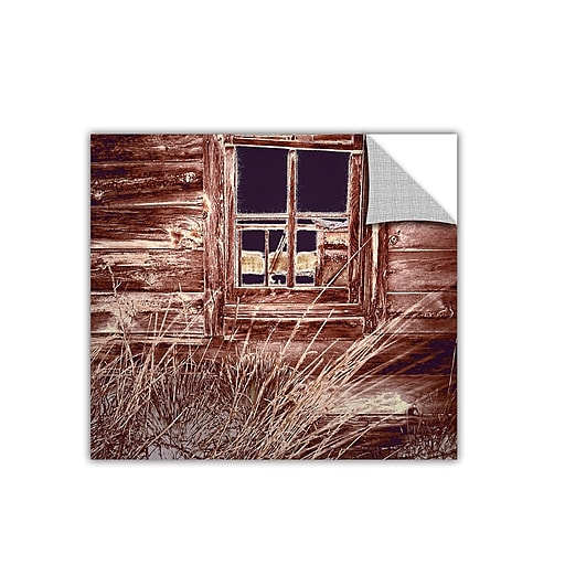 """ArtWall 'Miners Cabin' Art Appeelz Removable Wall Art Graphic 24"""" x 24"""" (0uhl084a2424p)"""