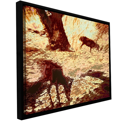 "ArtWall 'Morning Deer' Gallery-Wrapped Canvas 24"" x 32"" Floater-Framed (0uhl085a2432f)"