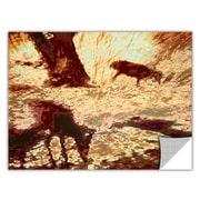 "ArtWall 'Morning Deer' Art Appeelz Removable Wall Art Graphic 36"" x 48"" (0uhl085a3648p)"