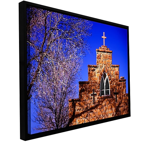 "ArtWall 'Navajo Church' Gallery-Wrapped Canvas 14"" x 18"" Floater-Framed (0uhl087a1418f)"
