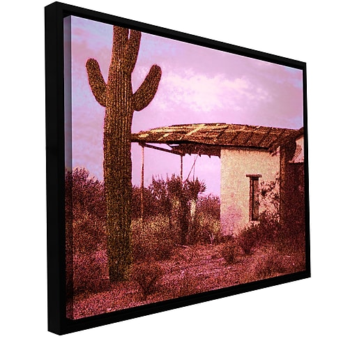 "ArtWall 'Past By The Future' Gallery-Wrapped Canvas 14"" x 18"" Floater-Framed (0uhl090a1418f)"