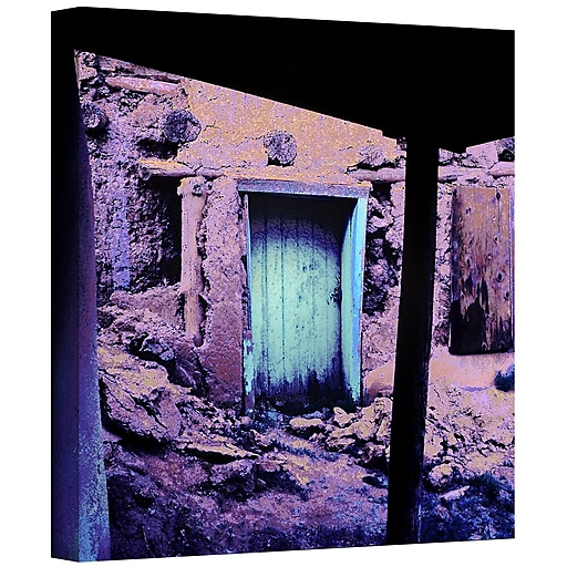 """ArtWall 'Past Through The Door' Gallery-Wrapped Canvas 24"""" x 24"""" (0uhl091a2424w)"""