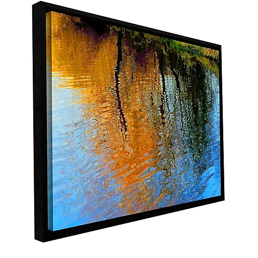 "ArtWall 'Rogue Reflections' Gallery-Wrapped Canvas 18"" x 24"" Floater-Framed (0uhl095a1824f)"