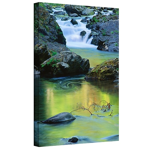 "ArtWall ""Sol Duc River Reflect"" Gallery-Wrapped Canvas 18"" x 24"" (0uhl097a1824w)"