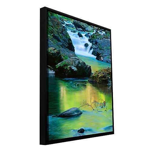 "ArtWall 'Sol Duc River Reflect' Gallery-Wrapped Canvas 14"" x 18"" Floater-Framed (0uhl097a1418f)"