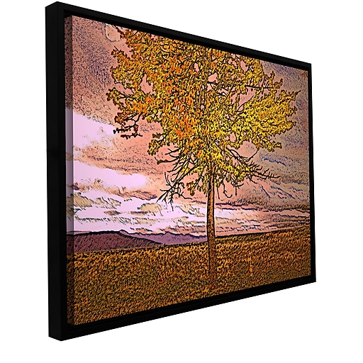 """ArtWall 'Teton Meadow Fall' Gallery-Wrapped Canvas 14"""" x 18"""" Floater-Framed (0uhl098a1418f)"""