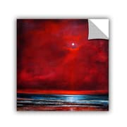 "ArtWall 'Red Spirit Rising' Art Appeelz Removable Wall Art Graphic 14"" x 14"" (0gro012a1414p)"