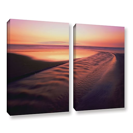 """ArtWall 'Back To The Sea' 2-Piece Gallery-Wrapped Canvas Set 36"""" x 48"""" (0uhl101b3648w)"""