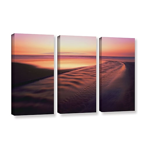 """ArtWall 'Back To The Sea' 3-Piece Gallery-Wrapped Canvas Set 36"""" x 54"""" (0uhl101c3654w)"""