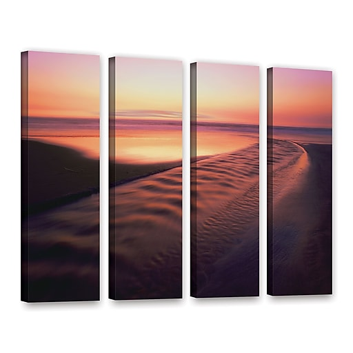 "ArtWall 'Back To The Sea' 4-Piece Gallery-Wrapped Canvas Set 24"" x 32"" (0uhl101d2432w)"