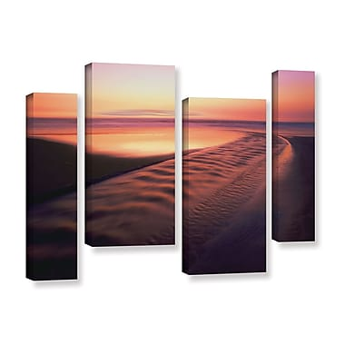 ArtWall 'Back To The Sea' 4-Piece Gallery-Wrapped Canvas Staggered Set 24