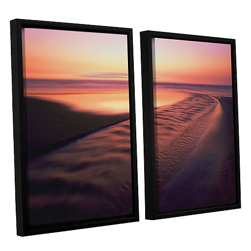 """ArtWall 'Back To The Sea' 2-Piece Canvas Set 24"""" x 32"""" Floater-Framed (0uhl101b2432f)"""