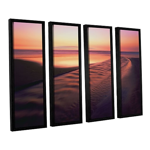 "ArtWall 'Back To The Sea' 4-Piece Canvas Set 36"" x 48"" Floater-Framed (0uhl101d3648f)"