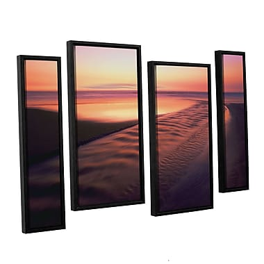 ArtWall 'Back To The Sea' 4-Piece Canvas Staggered Set 36