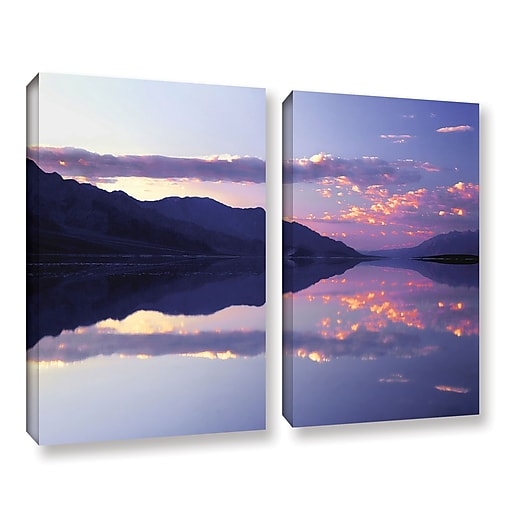 """ArtWall 'Bad Water Sunset' 2-Piece Gallery-Wrapped Canvas Set 18"""" x 24"""" (0uhl102b1824w)"""
