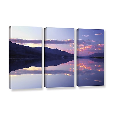 ArtWall 'Bad Water Sunset' 3-Piece Gallery-Wrapped Canvas Set 36