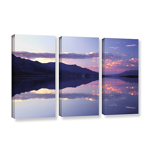 "ArtWall 'Bad Water Sunset' 3-Piece Gallery-Wrapped Canvas Set 36"" x 54"" (0uhl102c3654w)"