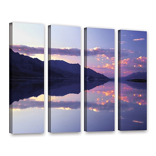 """ArtWall 'Bad Water Sunset' 4-Piece Gallery-Wrapped Canvas Set 36"""" x 48"""" (0uhl102d3648w)"""