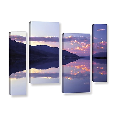ArtWall 'Bad Water Sunset' 4-Piece Gallery-Wrapped Canvas Staggered Set 36