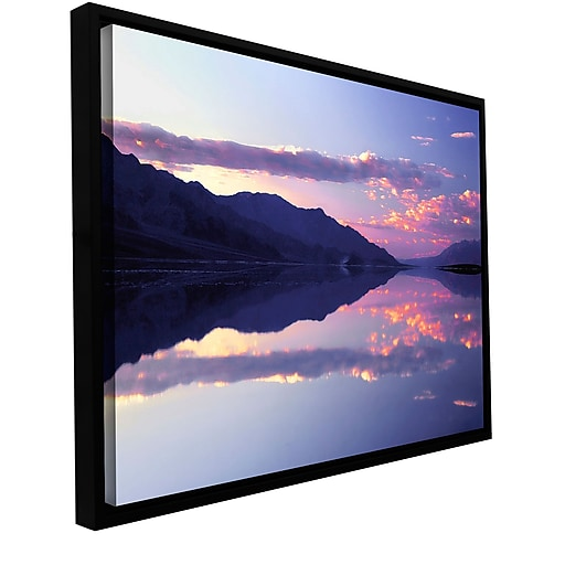 "ArtWall 'Bad Water Sunset' Gallery-Wrapped Canvas 36"" x 48"" Floater-Framed (0uhl102a3648f)"
