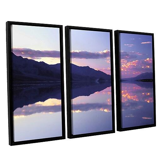"ArtWall ""Bad Water Sunset"" 3-Piece Canvas Set 36"" x 54"" Floater-Framed (0uhl102c3654f)"