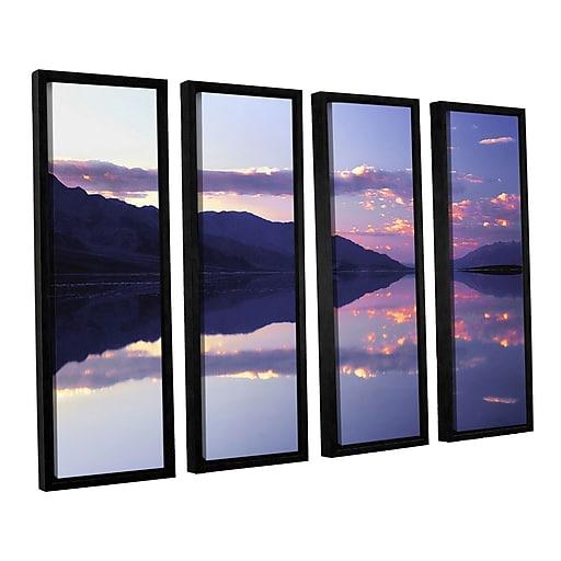 "ArtWall 'Bad Water Sunset' 4-Piece Canvas Set 36"" x 48"" Floater-Framed (0uhl102d3648f)"