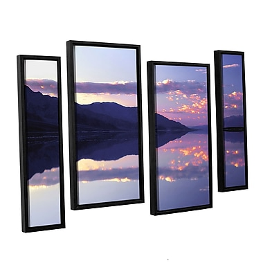 ArtWall 'Bad Water Sunset' 4-Piece Canvas Staggered Set 24