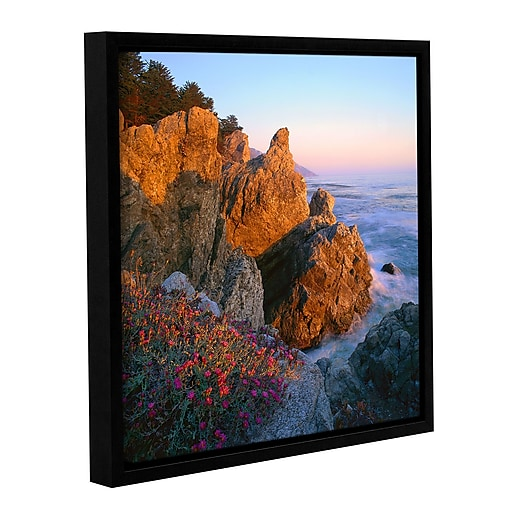 "ArtWall 'Big Sur Sunset' Gallery-Wrapped Canvas 14"" x 14"" Floater-Framed (0uhl104a1414f)"