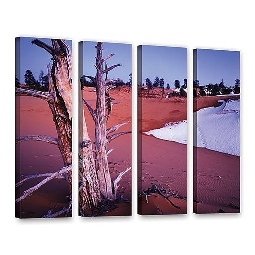 "ArtWall ""Coal Dunes Dusk"" 4-Piece Gallery-Wrapped Canvas Set 24"" x 32"" (0uhl107d2432w)"