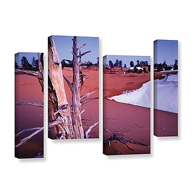 ArtWall 'Coal Dunes Dusk' 4-Piece Gallery-Wrapped Canvas Staggered Set 24