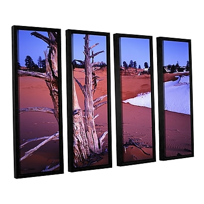 ArtWall 'Coal Dunes Dusk' 4-Piece Canvas Set 36