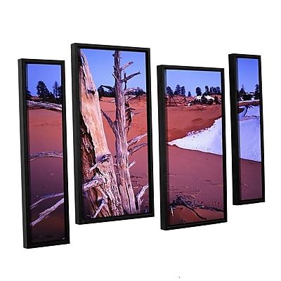 ArtWall 'Coal Dunes Dusk' 4-Piece Canvas Staggered Set 24