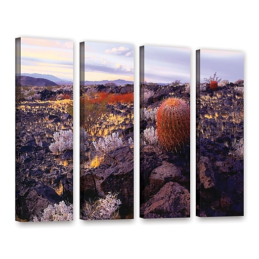 "ArtWall 'In The Mojave' 4-Piece Gallery-Wrapped Canvas Set 36"" x 48"" (0uhl110d3648w)"