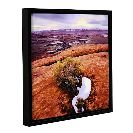 "ArtWall ""Island In The Sky"" Gallery-Wrapped Canvas 14"" x 14"" Floater-Framed (0uhl111a1414f)"