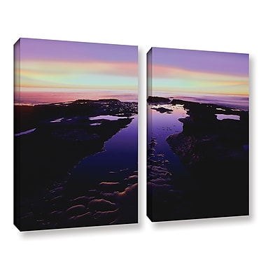 ArtWall 'Low Tide Afterglow' 2-Piece Gallery-Wrapped Canvas Set 36