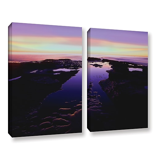 "ArtWall ""Low Tide Afterglow"" 2-Piece Gallery-Wrapped Canvas Set 24"" x 36"" (0uhl113b2436w)"