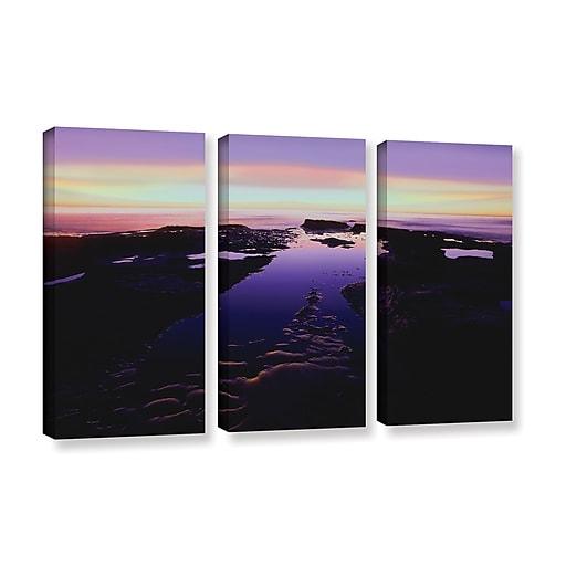 "ArtWall ""Low Tide Afterglow"" 3-Piece Gallery-Wrapped Canvas Set 36"" x 54"" (0uhl113c3654w)"