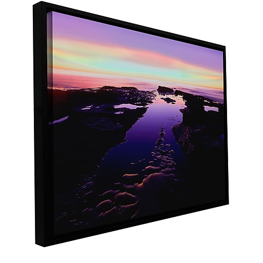 """ArtWall 'Low Tide Afterglow' Gallery-Wrapped Canvas 36"""" x 48"""" Floater-Framed (0uhl113a3648f)"""