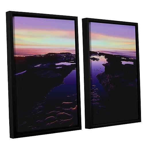 "ArtWall ""Low Tide Afterglow"" 2-Piece Canvas Set 24"" x 32"" Floater-Framed (0uhl113b2432f)"
