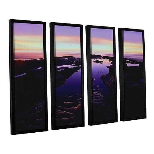 "ArtWall ""Low Tide Afterglow"" 4-Piece Canvas Set 36"" x 48"" Floater-Framed (0uhl113d3648f)"