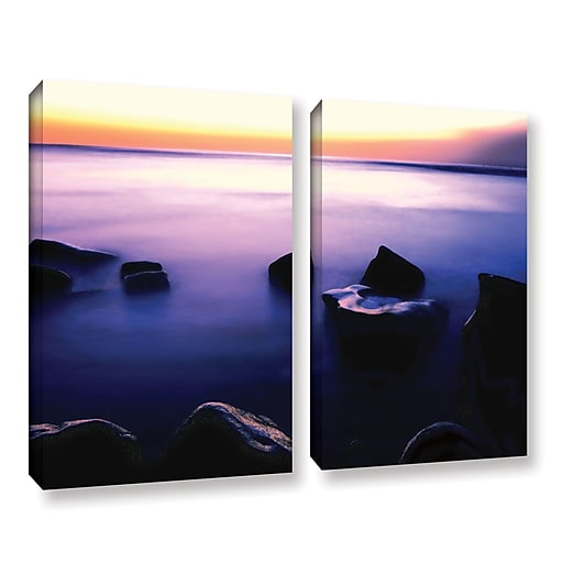 "ArtWall ""Pacific Afterglow"" 2-Piece Gallery-Wrapped Canvas Set 24"" x 32"" (0uhl117b2432w)"