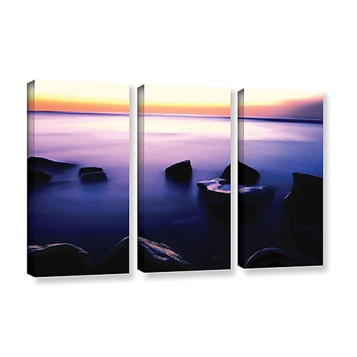 "ArtWall ""Pacific Afterglow"" 3-Piece Gallery-Wrapped Canvas Set 36"" x 54"" (0uhl117c3654w)"