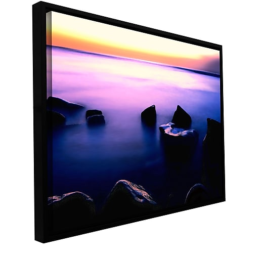"ArtWall 'Pacific Afterglow' Gallery-Wrapped Canvas 14"" x 18"" Floater-Framed (0uhl117a1418f)"
