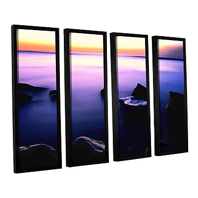 ArtWall 'Pacific Afterglow' 4-Piece Canvas Set 36