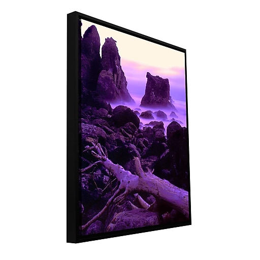 "ArtWall 'Patricks Point Twilight' Gallery-Wrapped Canvas 36"" x 48"" Floater-Framed (0uhl118a3648f)"