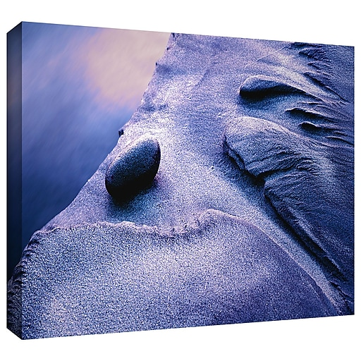 """ArtWall 'Rock Sand And Stream' Gallery-Wrapped Canvas 24"""" x 32"""" (0uhl119a2432w)"""