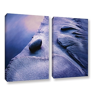 ArtWall 'Rock Sand And Stream' 2-Piece Gallery-Wrapped Canvas Set 18