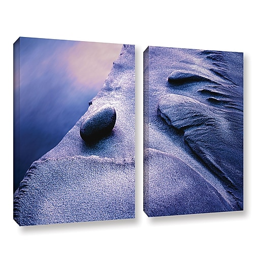 "ArtWall ""Rock Sand And Stream"" 2-Piece Gallery-Wrapped Canvas Set 36"" x 48"" (0uhl119b3648w)"