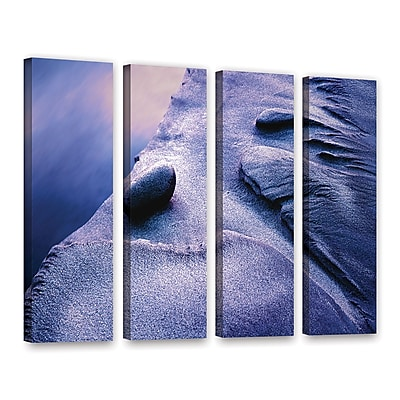 ArtWall 'Rock Sand And Stream' 4-Piece Gallery-Wrapped Canvas Set 36
